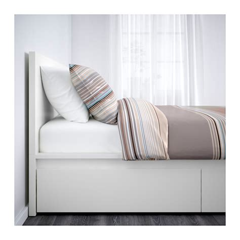 ikea bett 140x200 malm malm bed frame with 4 storage boxes white lur 246 y standard