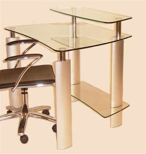 clear glass desk chintaly imports computer desk with clear glass top 6912 dsk homelement