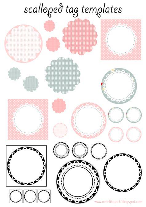 printable circle tags kostenlos zum ausdrucken backen tag vorlagen muschelrand