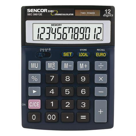 table calculator sec 395 12e sencor let s live