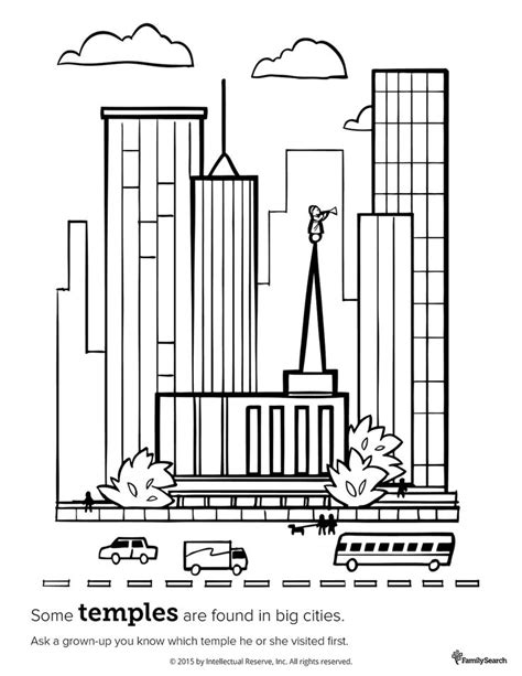 coloring pages lds temples 1000 images about for kids lds primary on pinterest