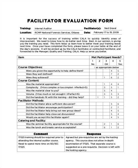 workshop evaluation forms sle best resumes