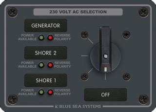 reverse polarity on a boat reverse polarity indicator with a galvanic isolator