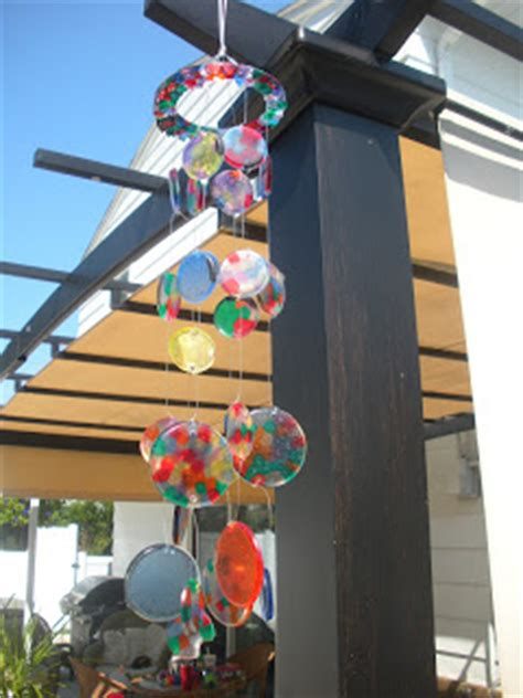 melted bead wind chimes working house suncatcher windchimes