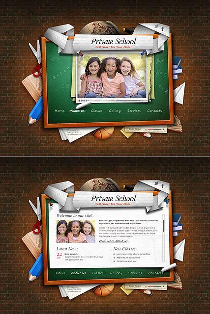 Private School Html5 Template Best Website Templates School Website Templates Free Html5