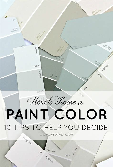 choosing a paint color livelovediy how to choose a paint color 10 tips to help