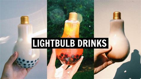 light bulb tea lightbulb drinks diy tea fruity drinks