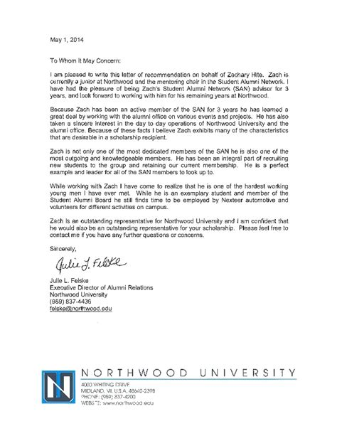 Recommendation Letter On Behalf Of Letter Of Recommendation Julie Felske