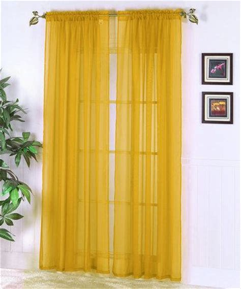 mustard yellow curtains mustard abby sheer voile curtain panel set of two home