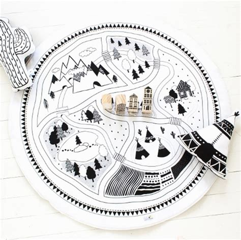 map playmat babee me modern toys black and white