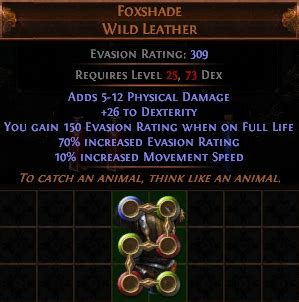 foxshade 6 sockets 6 linked poe armour