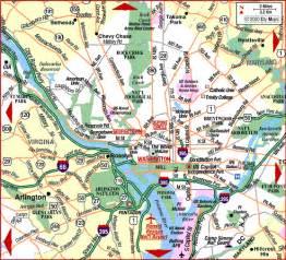 washington dc region map map of washington dc area