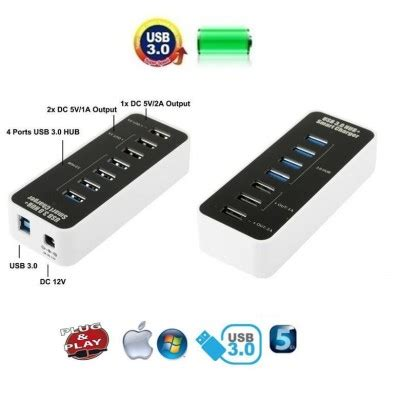 Saver Mobil In Mobil 3 Usb 4 1a hub 4 ports usb 3 0 speed usb charger 1a 2a usb hub usb pc and mobile