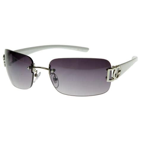 Rimless Square Sunglasses dg eyewear womens fashion square rimless dg sunglasses ebay