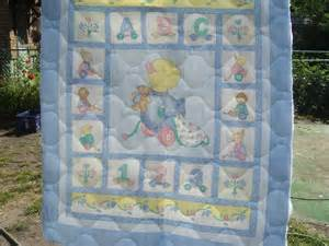 baby blanket quilted fabric sewing panel
