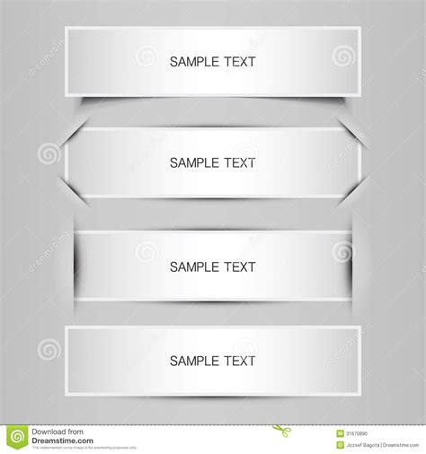 banner label template blank tag label or banner designs stock photo image