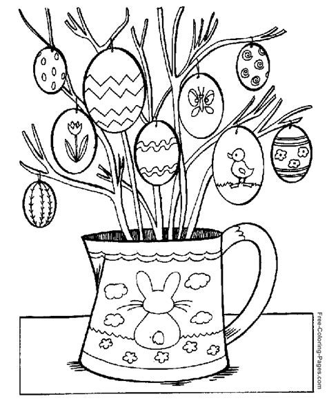 coloring pages of easter things easter coloring pictures easter egg tree