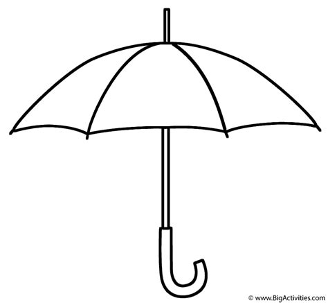coloring page of umbrella umbrella coloring page spring