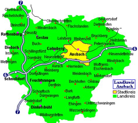 ansbach germany map