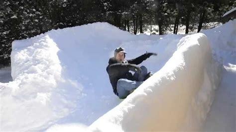 backyard luge solo sled run down the backyard luge course youtube gogo