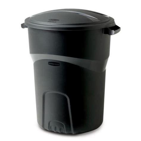 rubbermaid black plastic large outdoor garbage waste trash