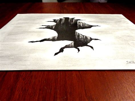 imagenes a lapiz a 3d ilusi 211 n 211 ptica agujero dibujo en 3d selbor youtube