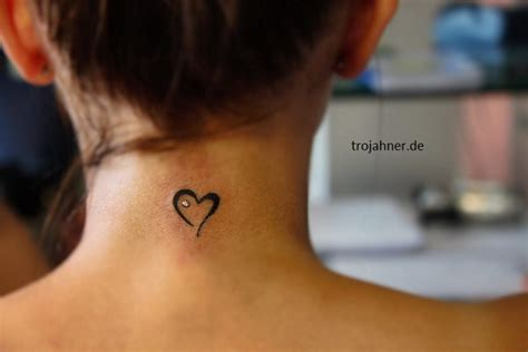 heart neck tattoo designs 101 pretty back of neck tattoos