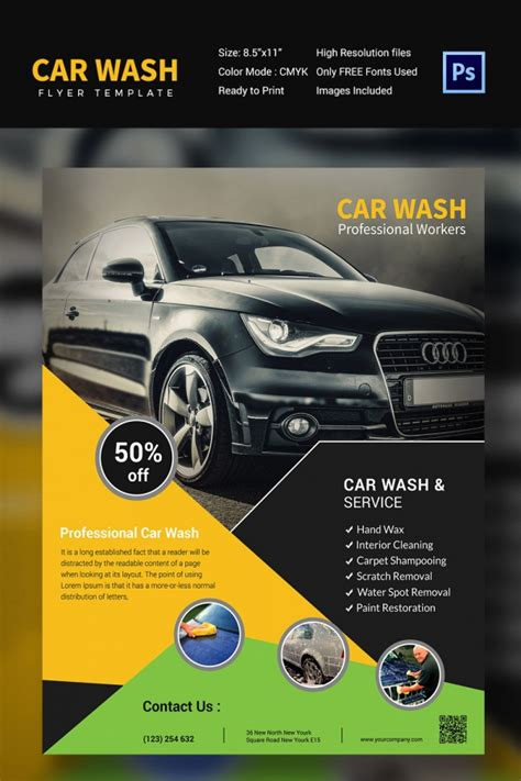 car wash template car wash flyer 48 free psd eps indesign format