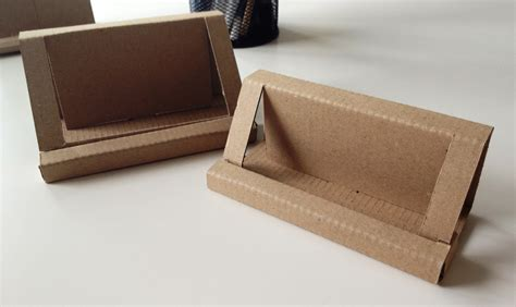 cardboard business card holder template runaway prototype design cardboard business card holder