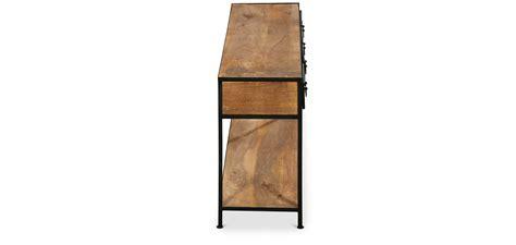 cassetti legno console vintage industriale con cassetti legno