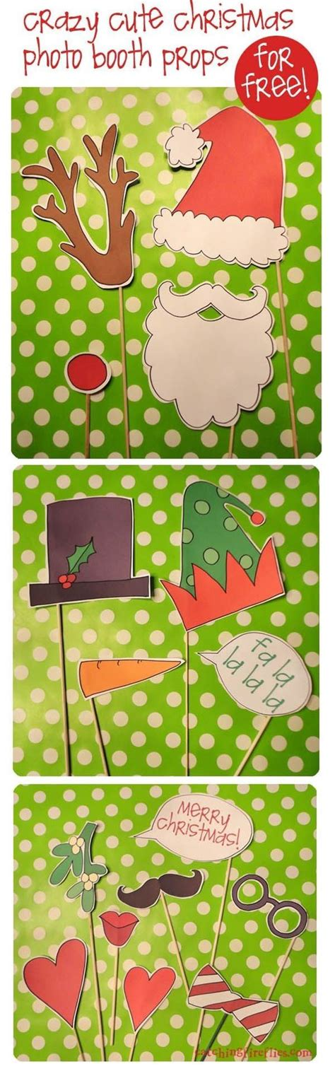 free printable christmas photo booth props by