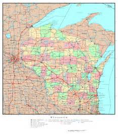 highway map with cities large detailed administrative map of wisconsin state with