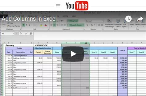 tutorial excel accounting download invoice record keeping template rabitah net