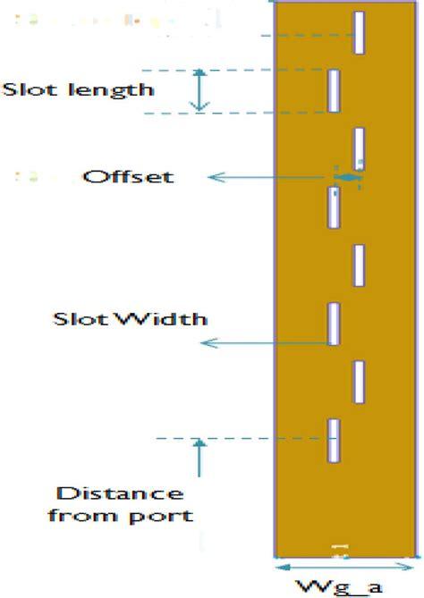 rectangular waveguide antenna array with 8 slots scientific diagram