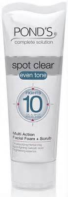Pond S Clear Solution S C 100ml pond s pond s spot clear even tone foam and scrub