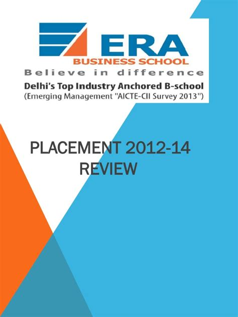 Of San Francisco Mba Placements by Era Business School Review Best Placement In Pgdm In Delhi