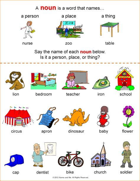 Noun Worksheets For Kindergarten by Nonna And Me Clown Town Crown Learning About Nouns