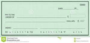 blank check with false numbers stock illustration image