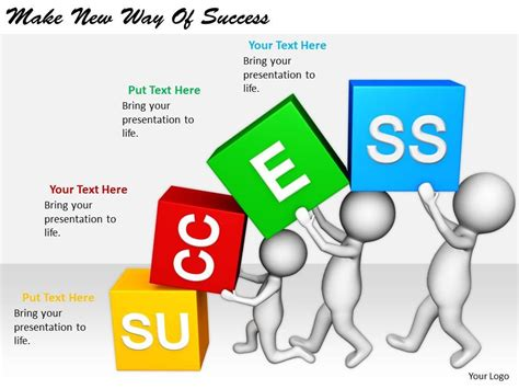 2413 Business Ppt Diagram Make New Way Of Success Powerpoint Template Success Powerpoint Templates