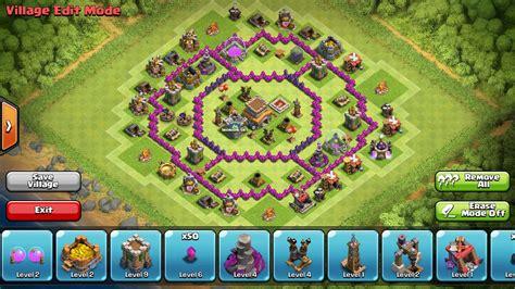 fungsi layout coc war base anti dragon untuk th level 7 wong tamfan