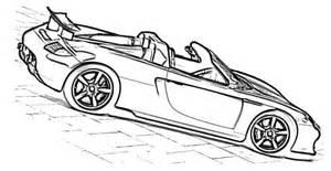 coloriage porsche les beaux dessins de transport 224