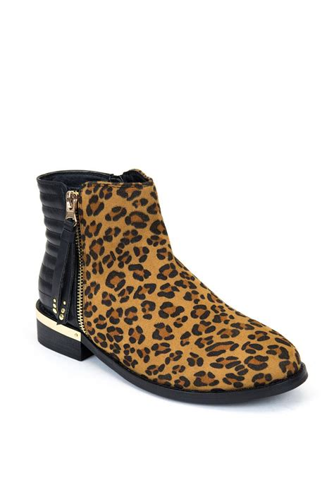 flat bootie shoes gc shoes leopard flat bootie from new york city by via