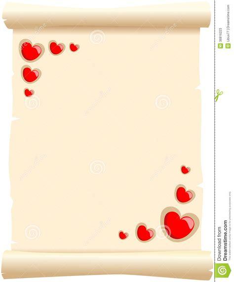 imagenes de amor y amistad pergaminos en blanco pergamino del amor ilustraci 243 n del vector ilustraci 243 n de