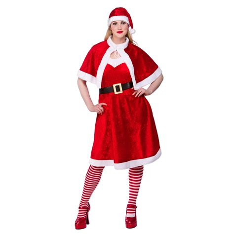 miss santa plus size uk 16 18 20 ladies fancy dress