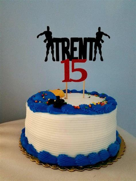 fortnite cake topper fortnite floss birthday cake topper