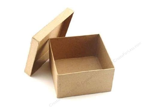 Paper Craft Boxes - paper mache square box 4 1 2 in by craft pedlars 24