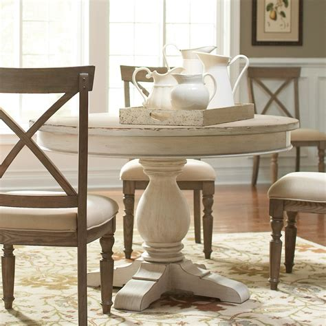 round white dining room table aberdeen wood round dining table only in weathered worn