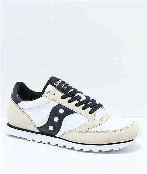 Saucony White Black saucony jazz low pro white black shoes zumiez