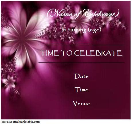 online birthday invitation printable online birthday