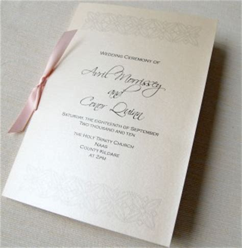 mass booklets templates for weddings unique wedding invitations ceremony booklet